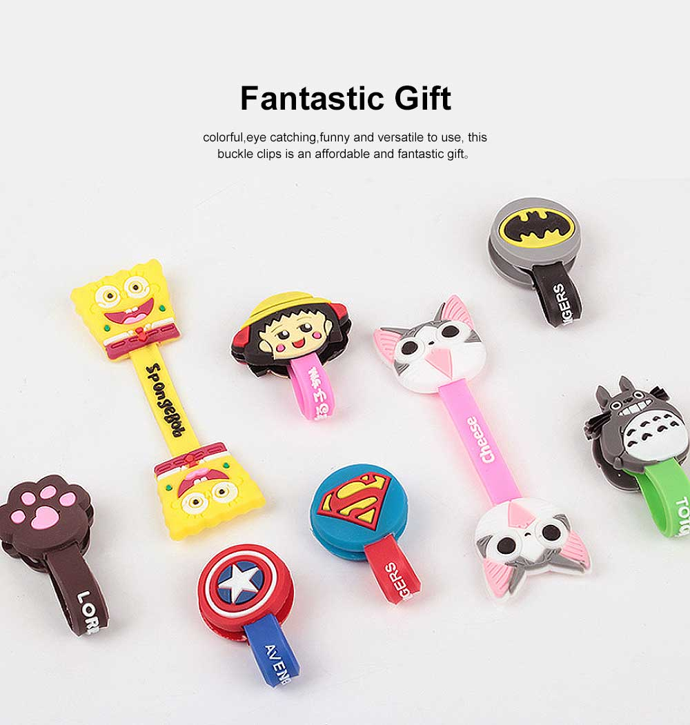 Soft Silicone Wire Cable Organizer, Cartoon Animals Line Manager for Data Cable 5