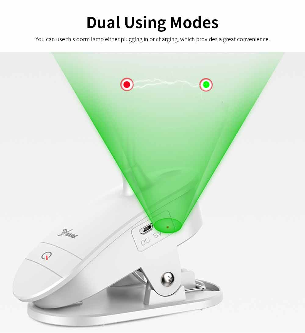 Dual USB Chargeable Eye Care Lamp, Reading Touch LED Lamp For Students, Dormitory 3