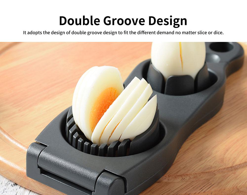 Double Groove Egg Cutter, Hard Boiled Egg Slicer 1