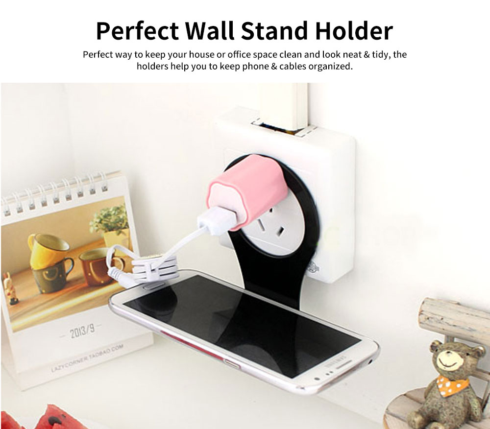 Wall Mounted Charging Stations for Electronics, Foldable Plastic Charging Rack Holder For Cell Phone 1