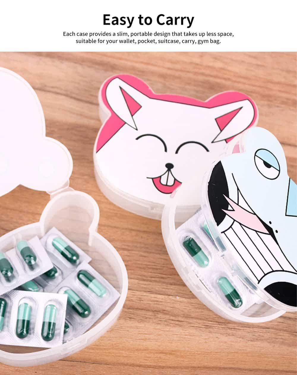 Cute Animal Pill Case, Mini Cartoon Animal Pattern Pill Storage Box For Children 2