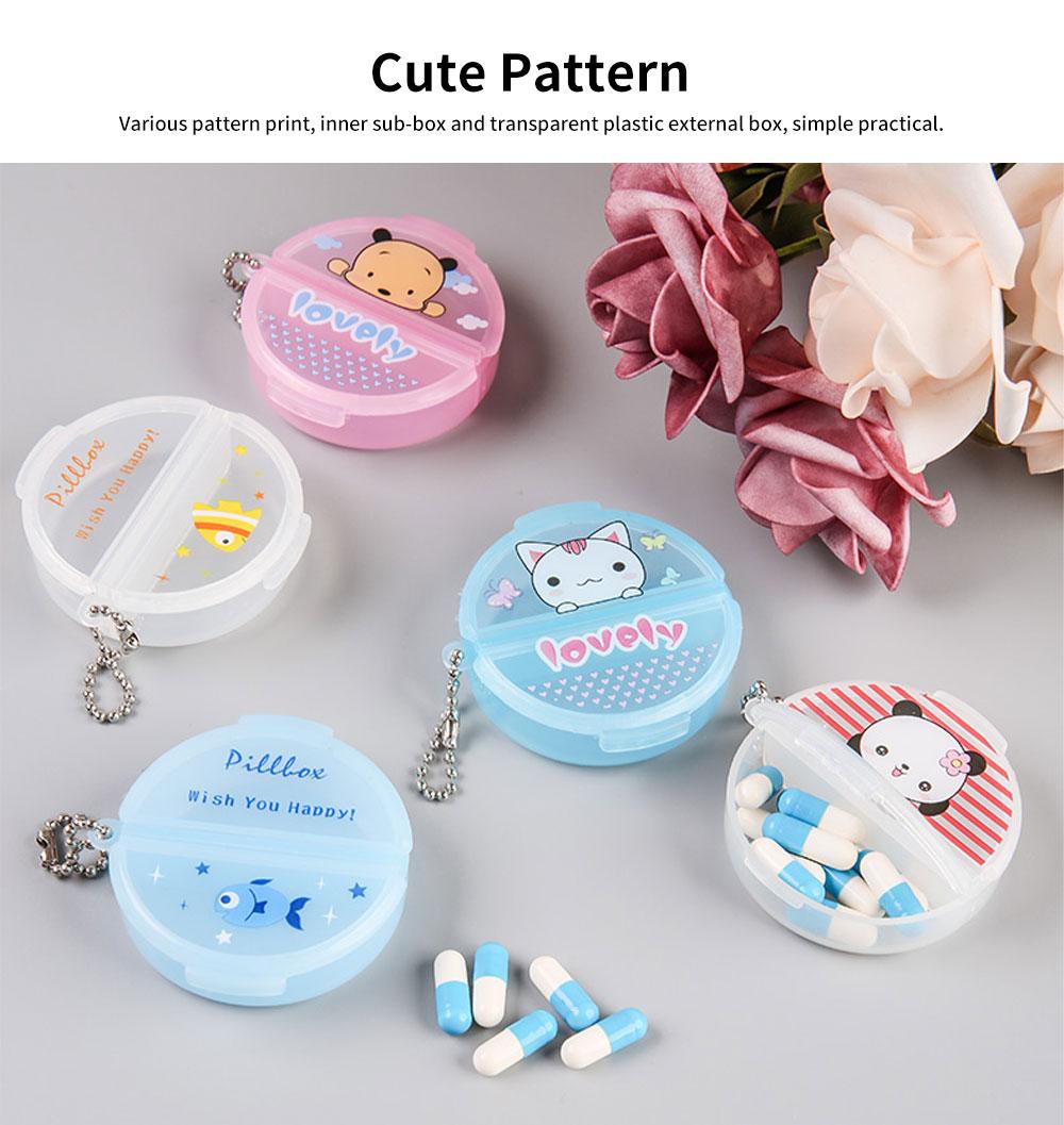 Cartoon Pill Box for Girls Cute Vitamin Storage Supplement Case 3