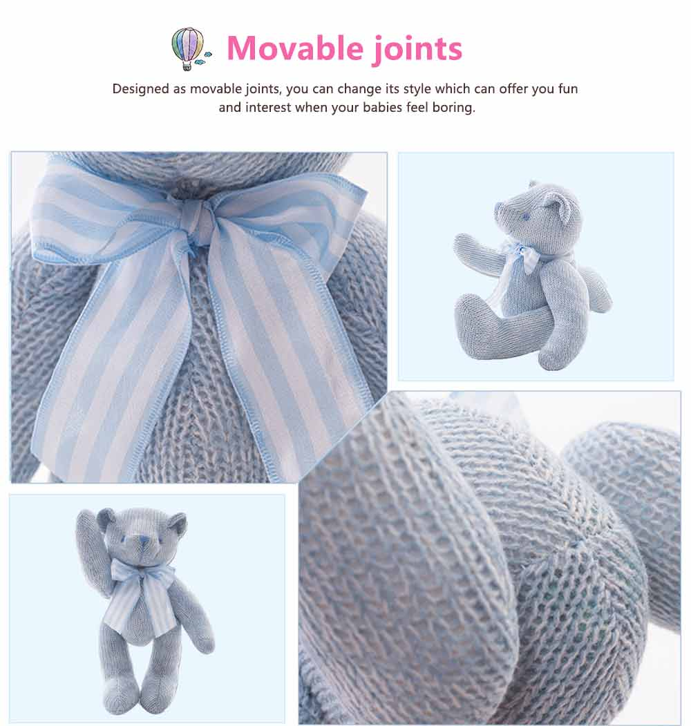 Cub Teddy Bear, Knitted Joints Bear Plush Toy 1