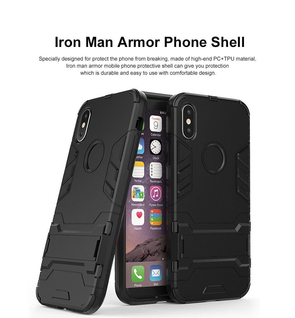 Iron Man Armor Phone Case for All iPhone, Anti-fall Phone Protective Shell with Panther Design 0