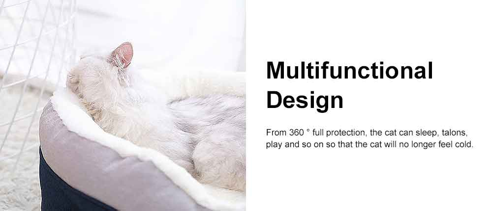 Cat Beds For Indoor Cats Washable, Multifunctional Cat Litter With  2