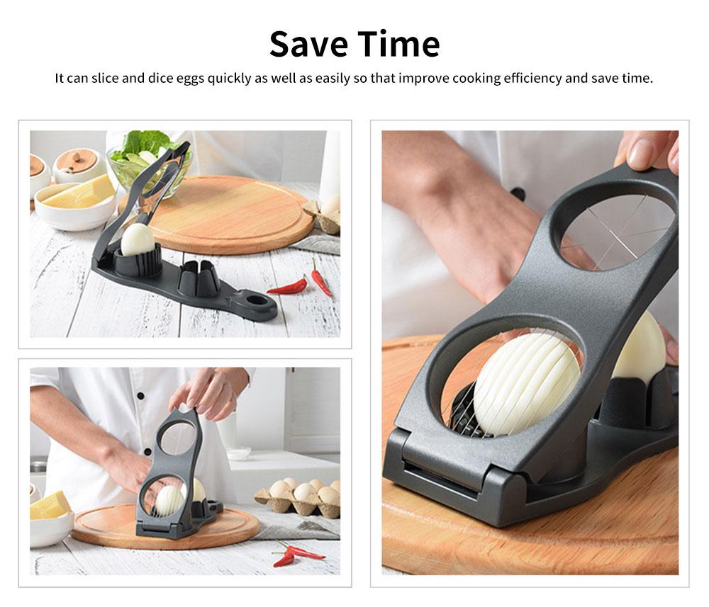 Double Groove Egg Cutter, Hard Boiled Egg Slicer 5