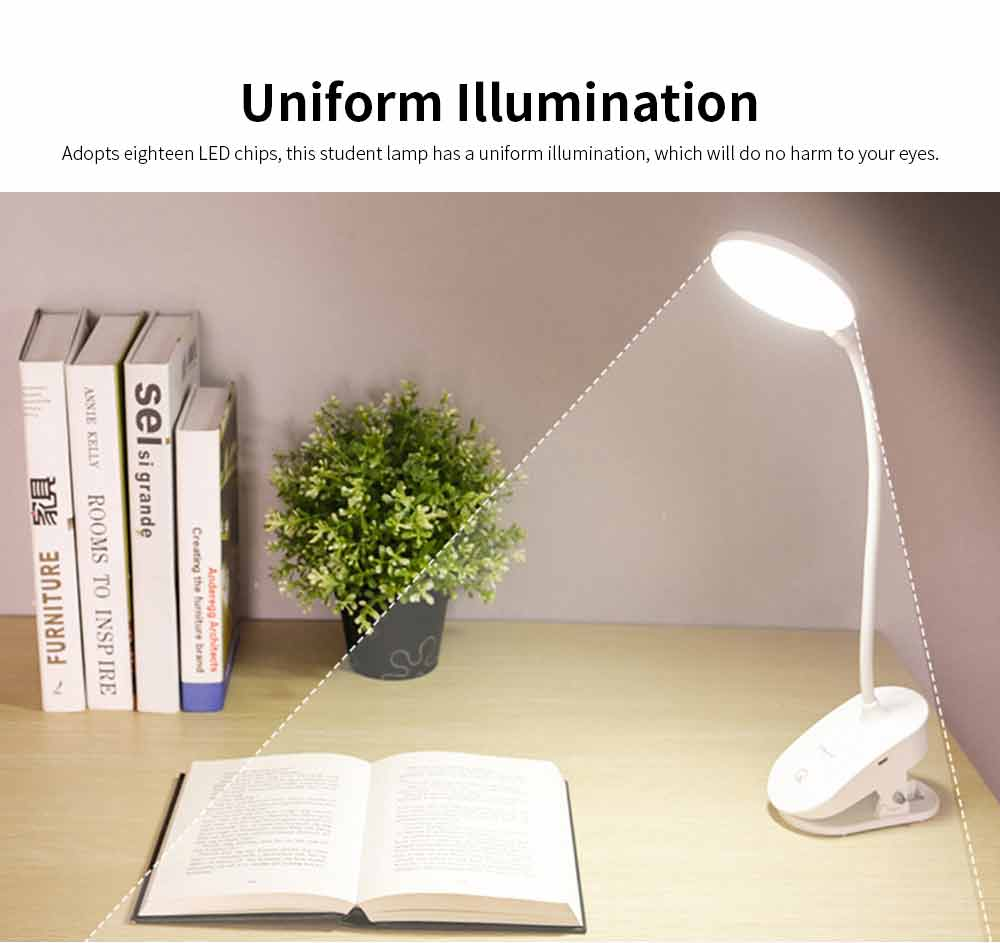 Dual USB Chargeable Eye Care Lamp, Reading Touch LED Lamp For Students, Dormitory 1