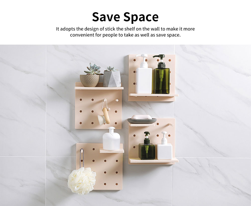 Wall Mounted Bathroom Storage Racks, Wide Range Wall Storage Shelves 4