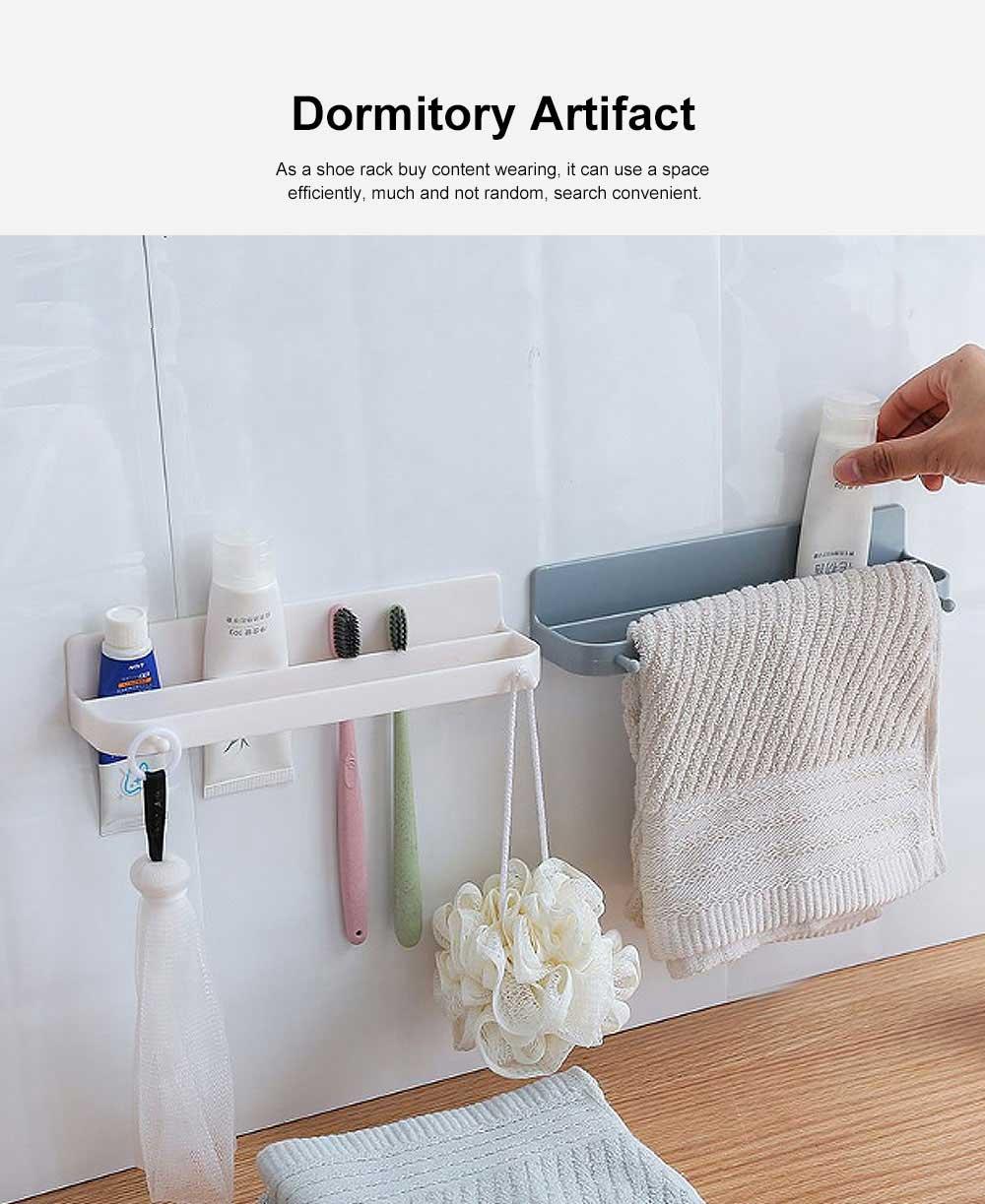 Wall-mounted Shoe Rack, Multifunctional Non-perforated Paste Hanging Rack 5