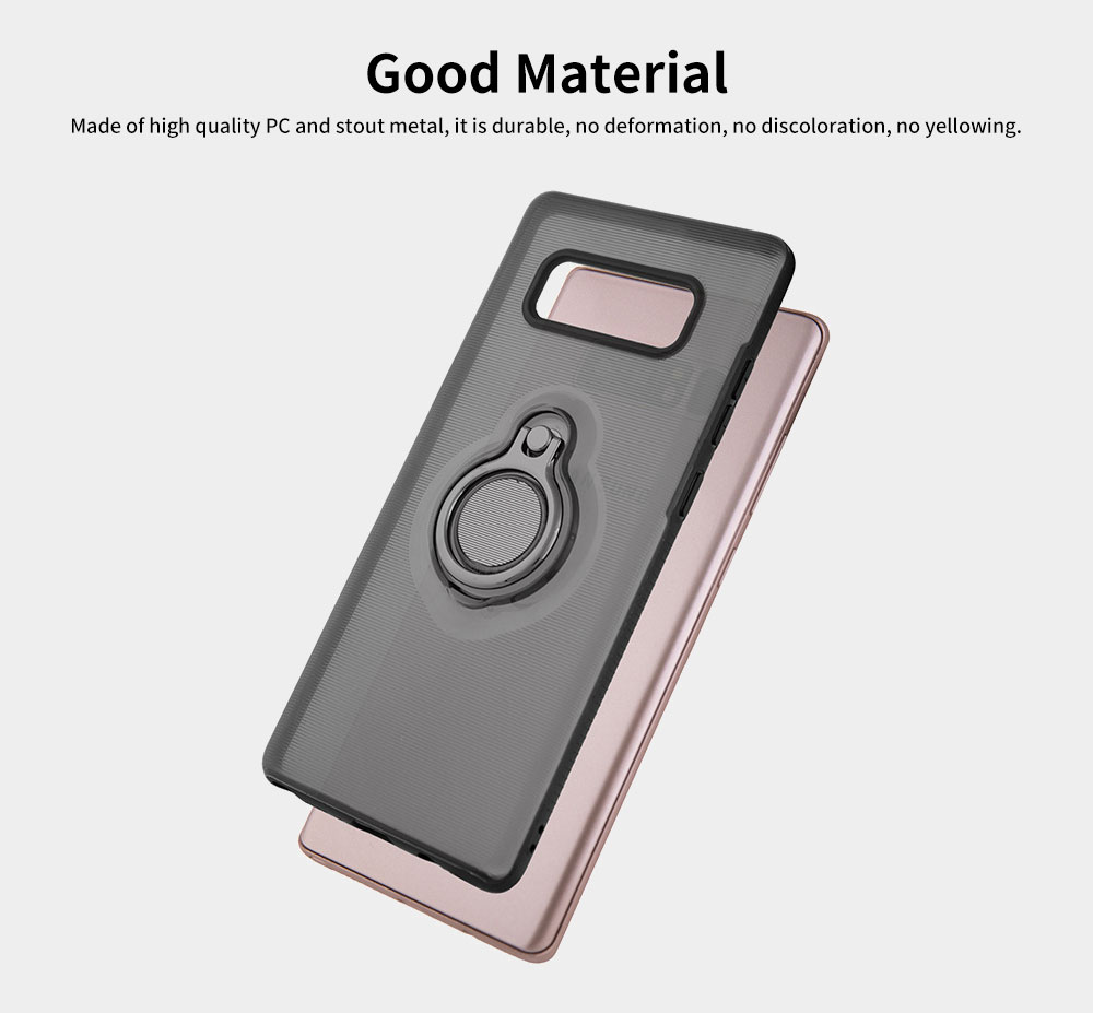Transparent Smart Phone Case with Ring Bracket, Shatter Resistant Protection Case for Samsung Note 8 Galaxy Note 9 3
