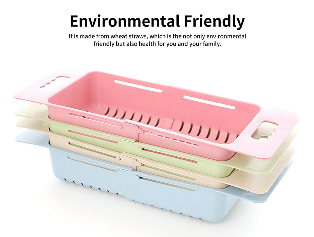 Scalable Drain Basket, Wheat Straw Hollow-out Fruit Basket 1