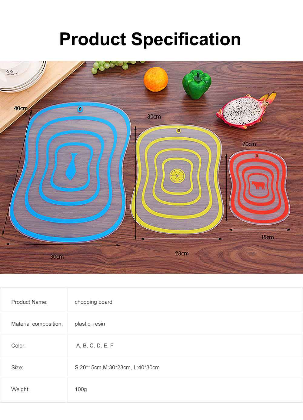 Baby Food Cutting Board, Plastic Cutting Boards For Cutting Vegetables, Fruit 6