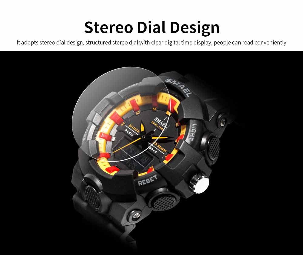 Outdoor Sports Watch, Multi-function Electronic Water Resistant Digital Quartz Wrist Watch 2