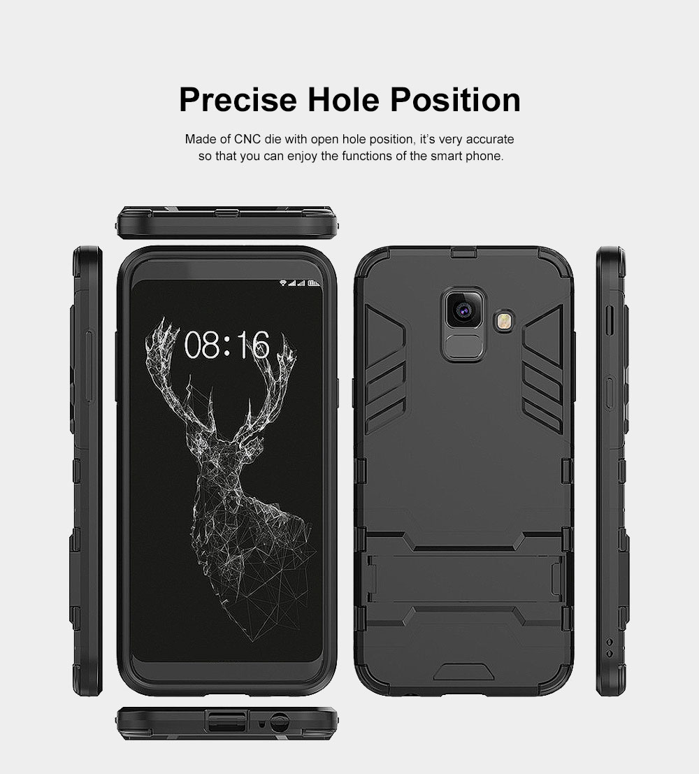 Iron Man Phone Case for Samsung A6, A6 Plus 2018, Armor Phone Protective Shell With Contact Support 3
