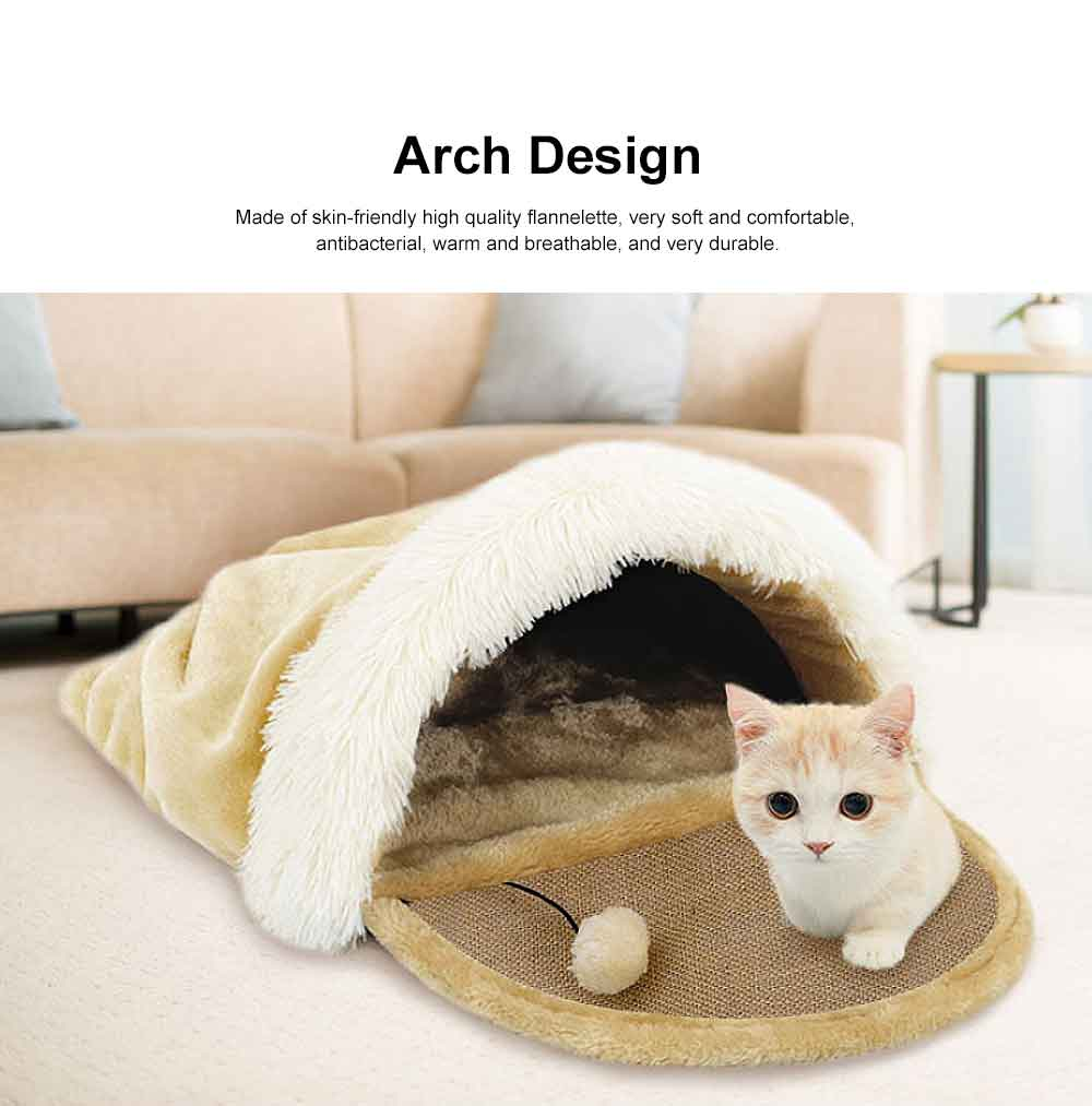 Multifunctional Cat Litter with Arch Design, Durable & Convenient Storage Cattery for Four Seasons Universal 4