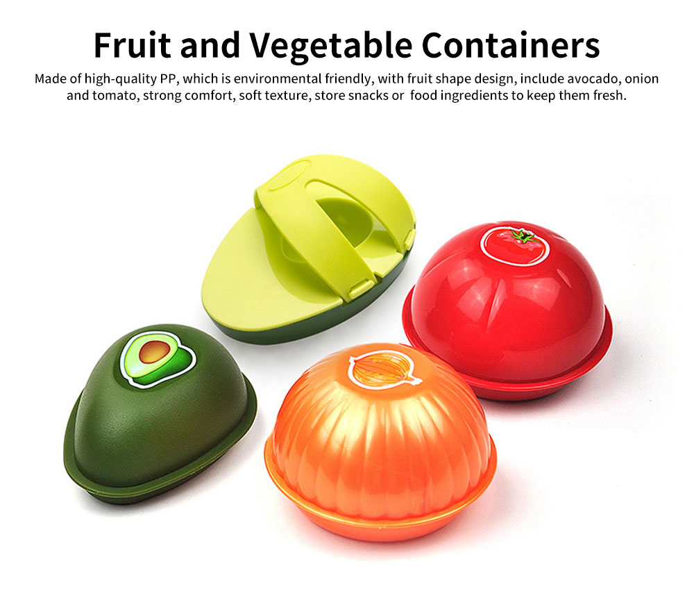 PP Food Preservation Boxes, Fruit and Vegetable Shaped Containers 0