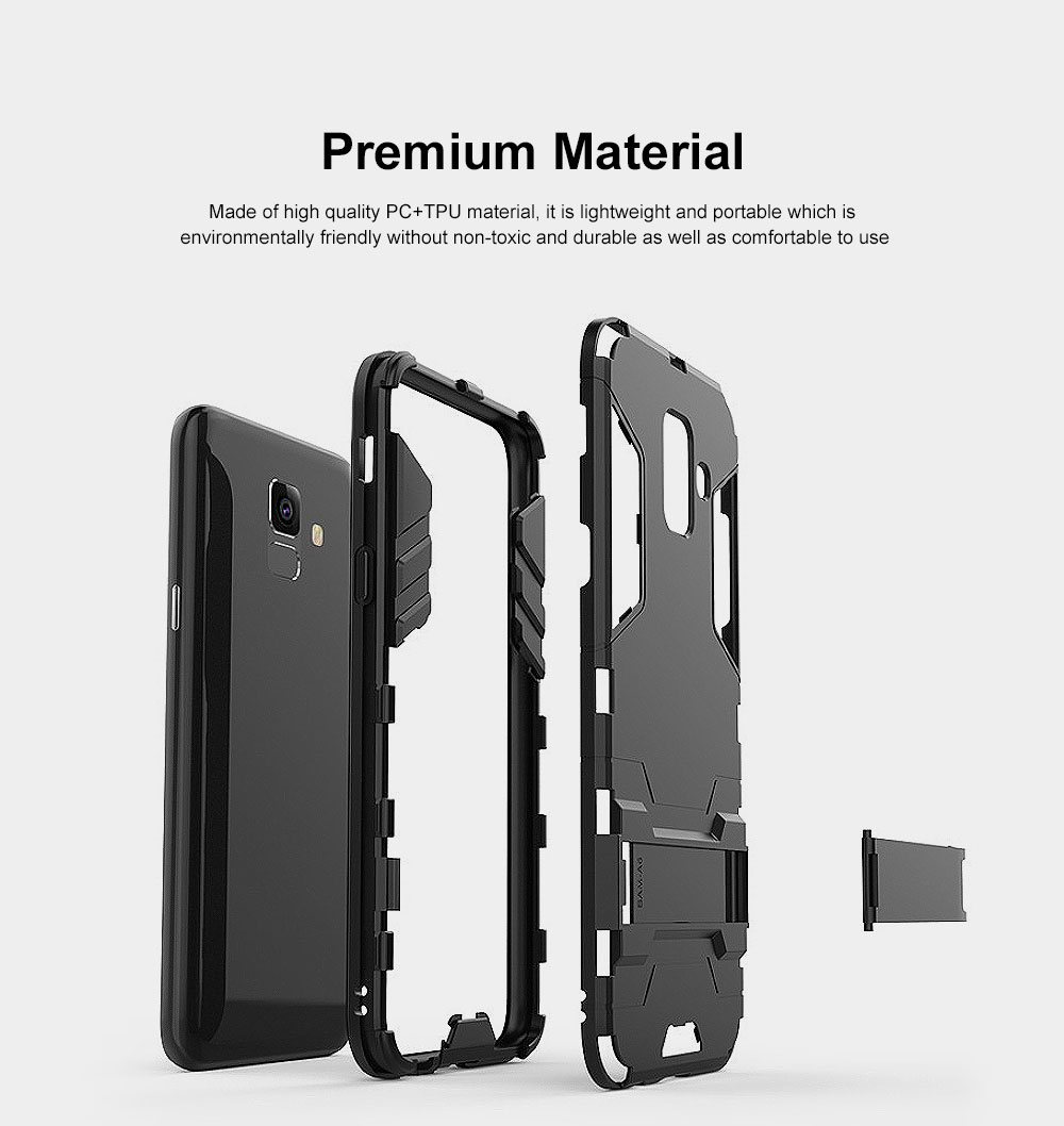 Iron Man Phone Case for Samsung A6, A6 Plus 2018, Armor Phone Protective Shell With Contact Support 17