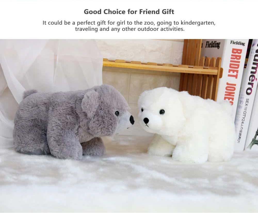 Polar Bear Stuffed Toy, Cute White Bear Doll Grab Doll Plush Toys for Children 4