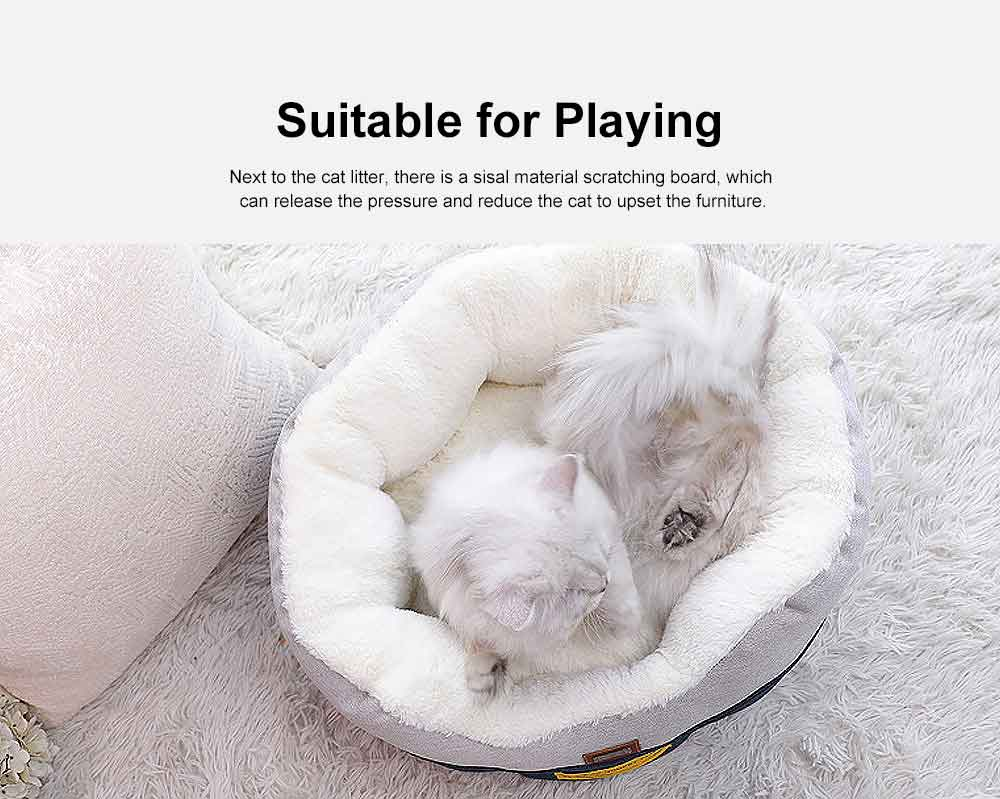 Cat Beds For Indoor Cats Washable, Multifunctional Cat Litter With  5