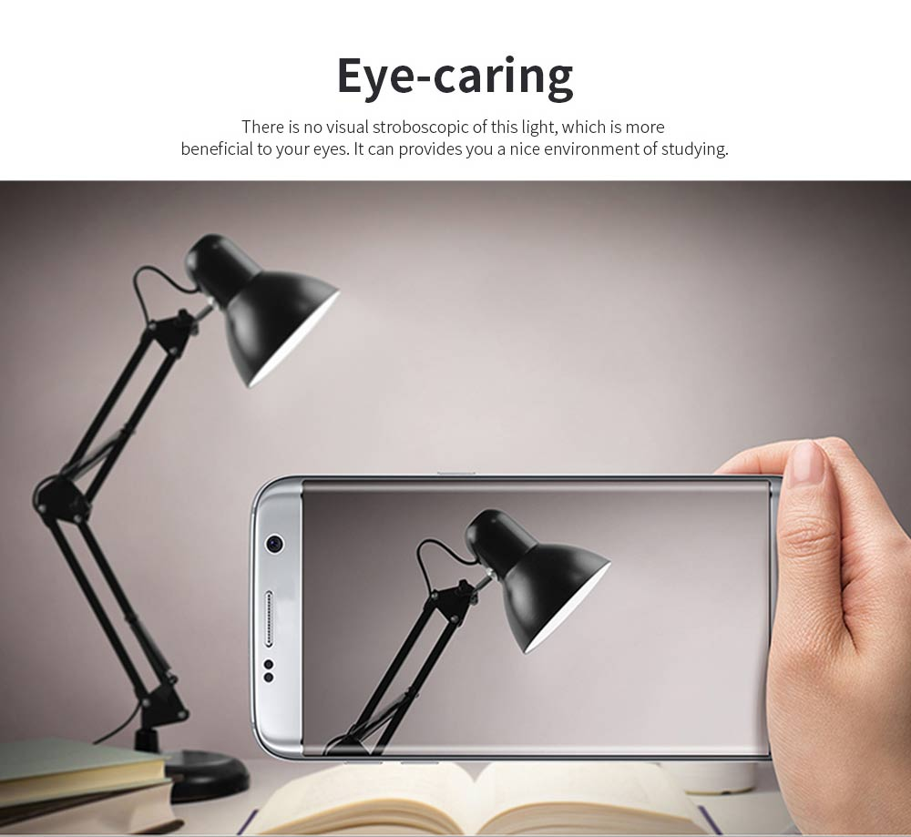 Led Folding Desk Lamp With Long Arm, Eye-Caring Reading  Household, Dormitory Bedside, Desk Luminaire 2