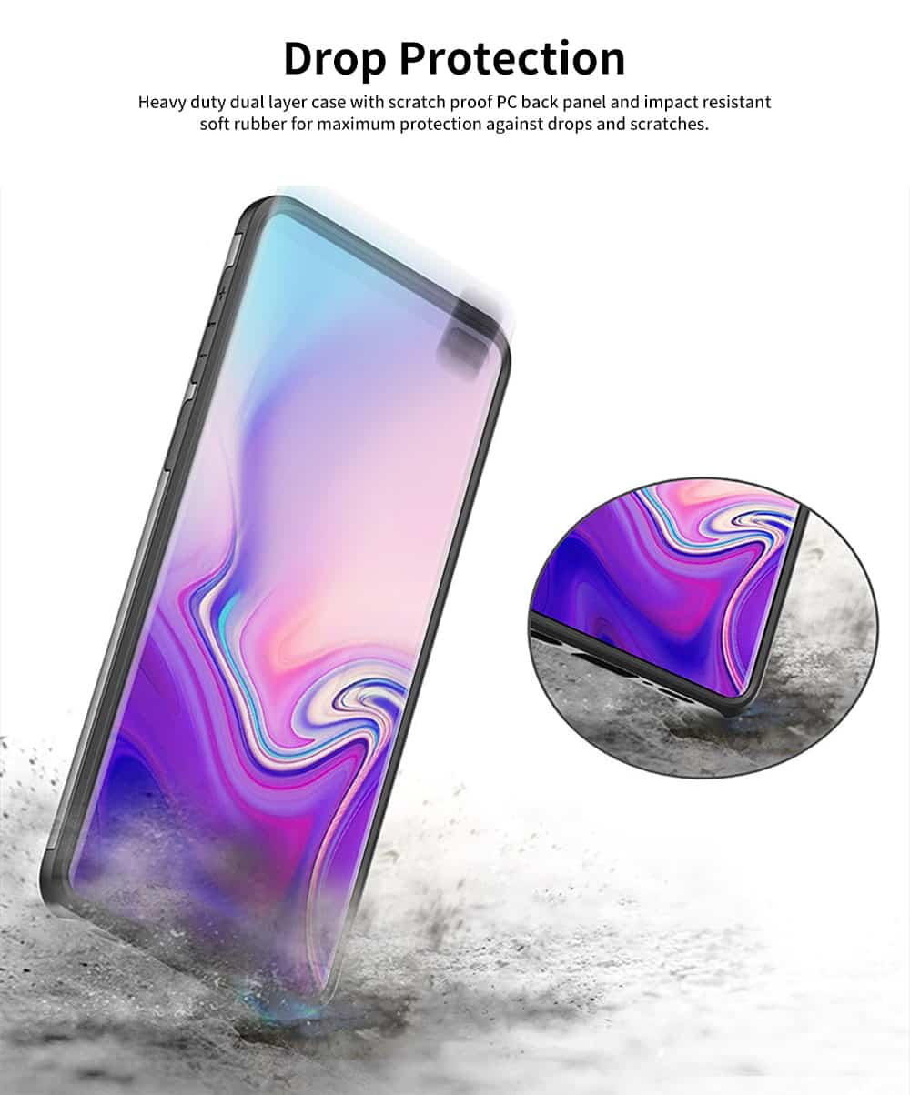 Protective Hard Shell for Samsung Galaxy S10, Phone Case Wallet Credit Card Holder with Sliding Door 4