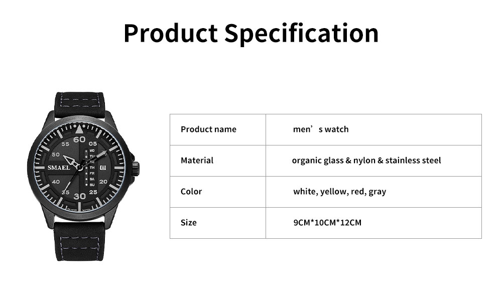 Men's Multifunctional Sport Watch, Fashionable Quartz Watch for Outdoor Use 6