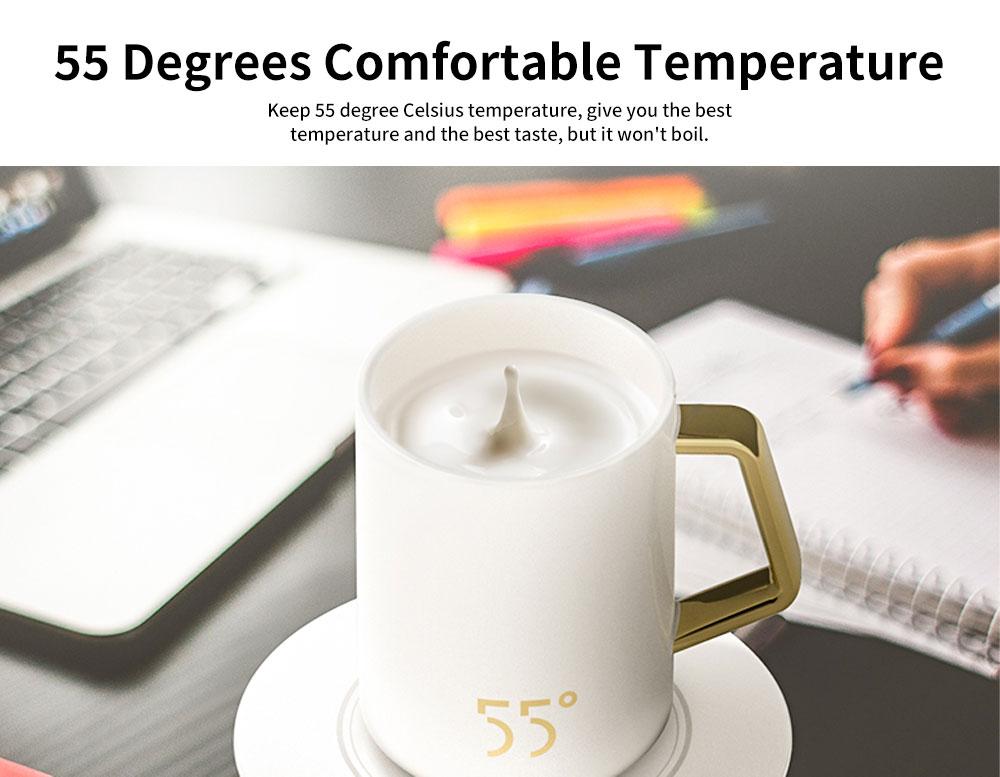 55 Degree Thermostatic Mug Heating Warmer for Hot Milk, Warm Tea, Warm Coffee, Warm Water 1
