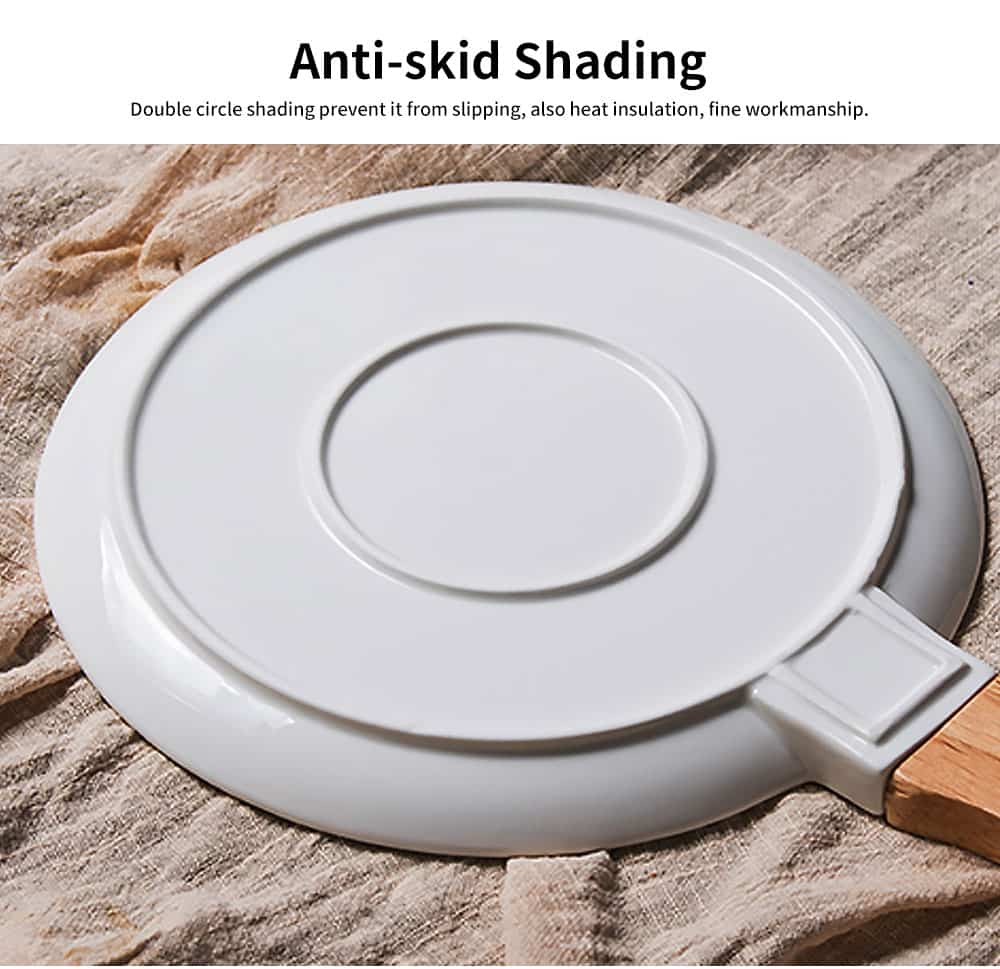 Marble Texture Round Ceramic Plate, Nordic Style Food Dish for Fruit, Salad, Beef 5