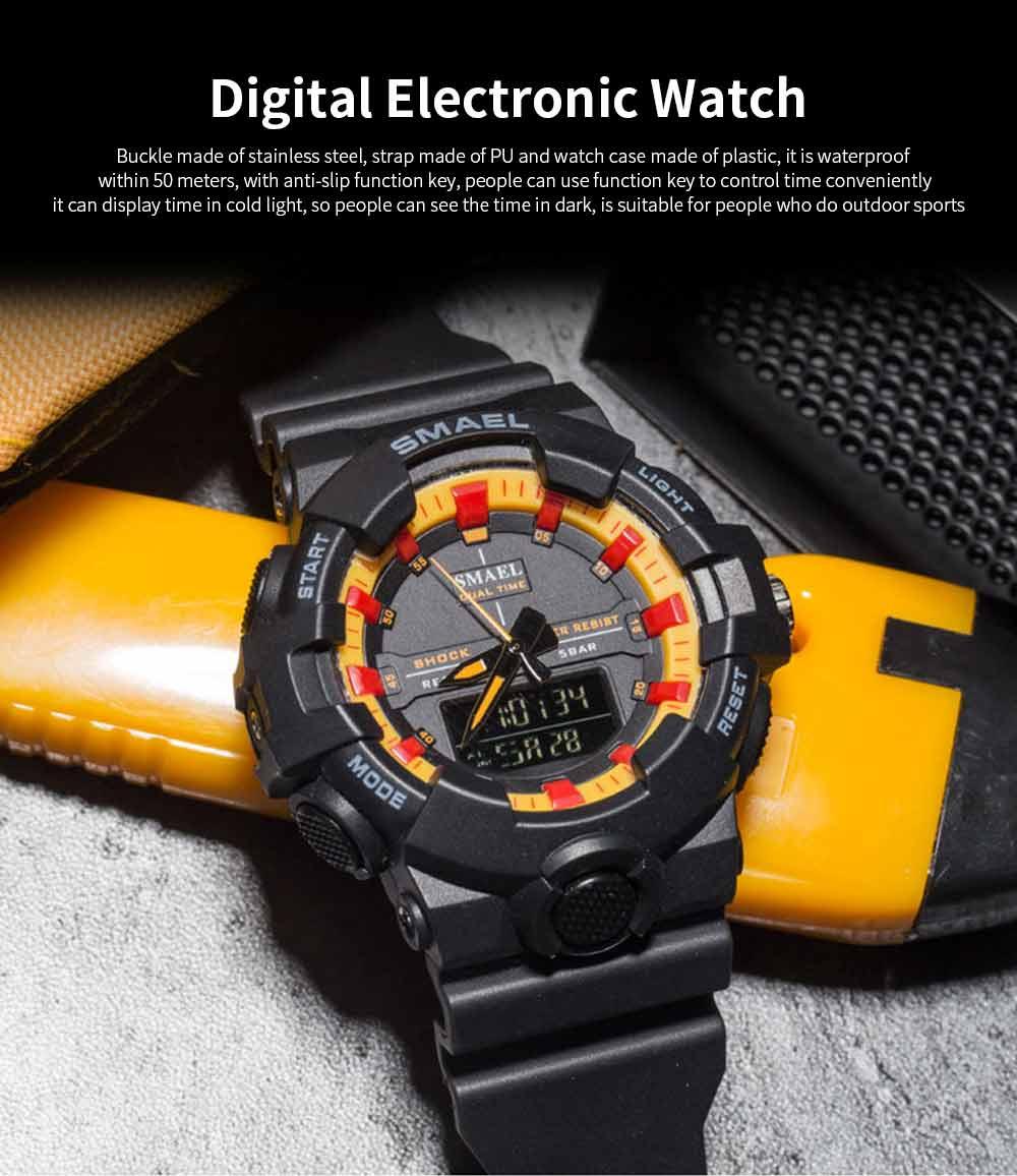Outdoor Sports Watch, Multi-function Electronic Water Resistant Digital Quartz Wrist Watch 0