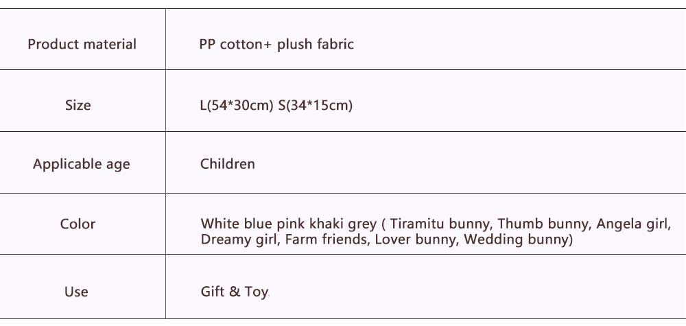 Metoo Plush Rabbits Angela Girl Cuddy Doll, Dreams Appease Doll Gifts for Toddlers 6
