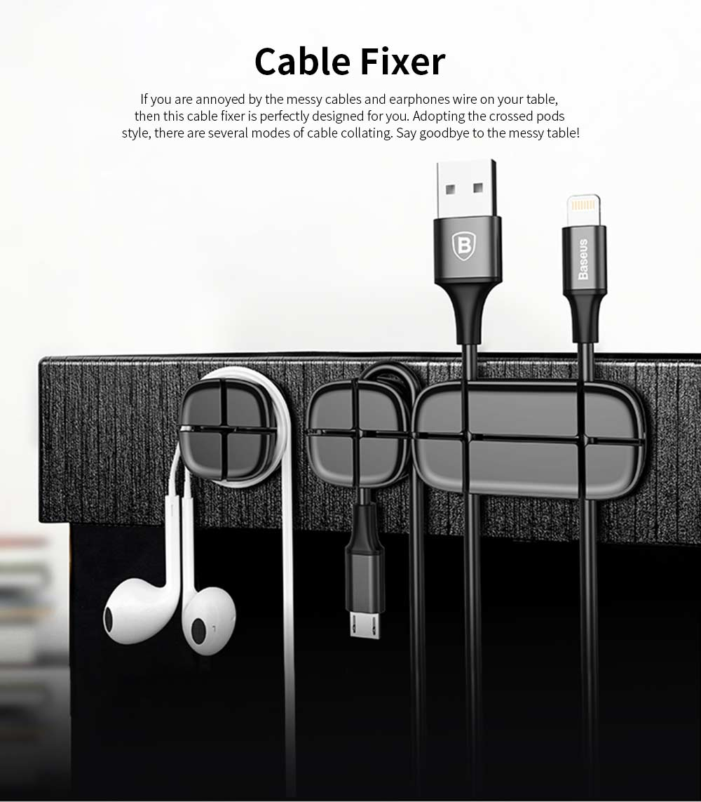 Cable Holder Organizer, Silicone Pasted Cable Fixer 0