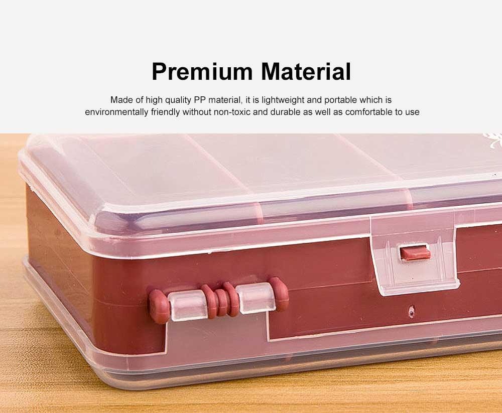 Plastic Liquid Bottle Storage Case Portable Double-Layer Travel Containers For Liquids 1