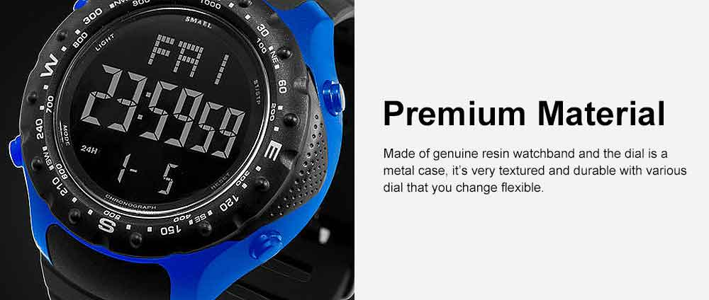 Multifunctional Water-poof Digital Watches, Smart Electronic Watch with TPU Strap 1