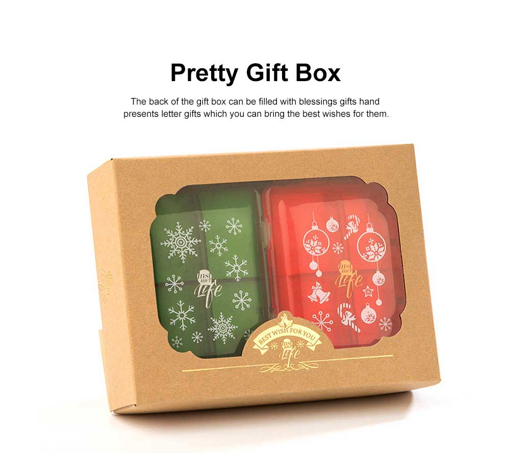 Christmas Pill Boxes, 3-Layer 8-Grid Mini Weekly Pill Case, Pack of 2 4