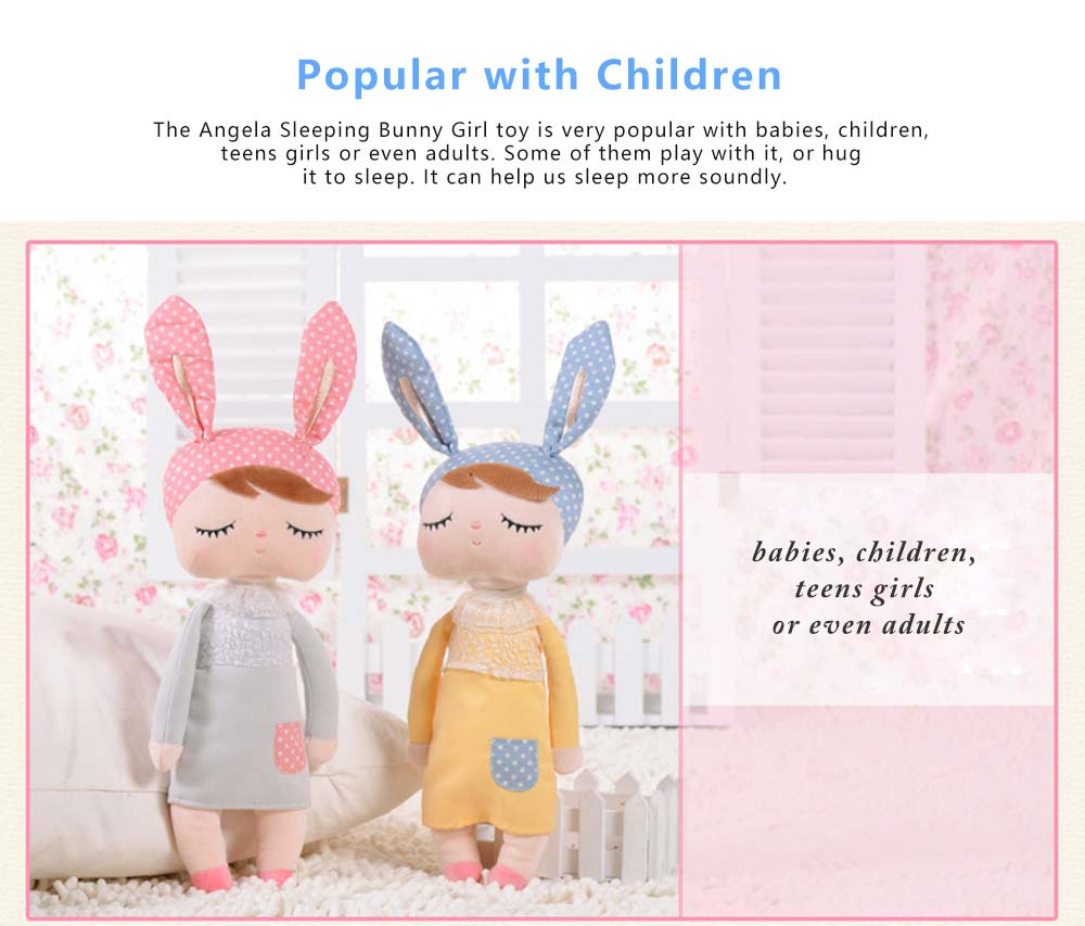 Metoo Plush Rabbits Angela Girl Cuddy Doll, Dreams Appease Doll Gifts for Toddlers 4