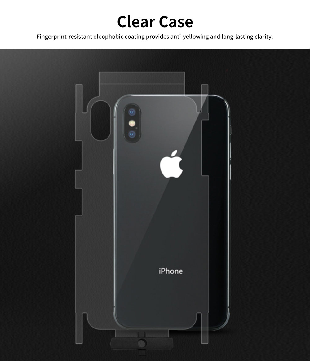 Heavy Duty Case with Soft TPU Bumper for iPhone, Full Protective Clear Phone Case 5