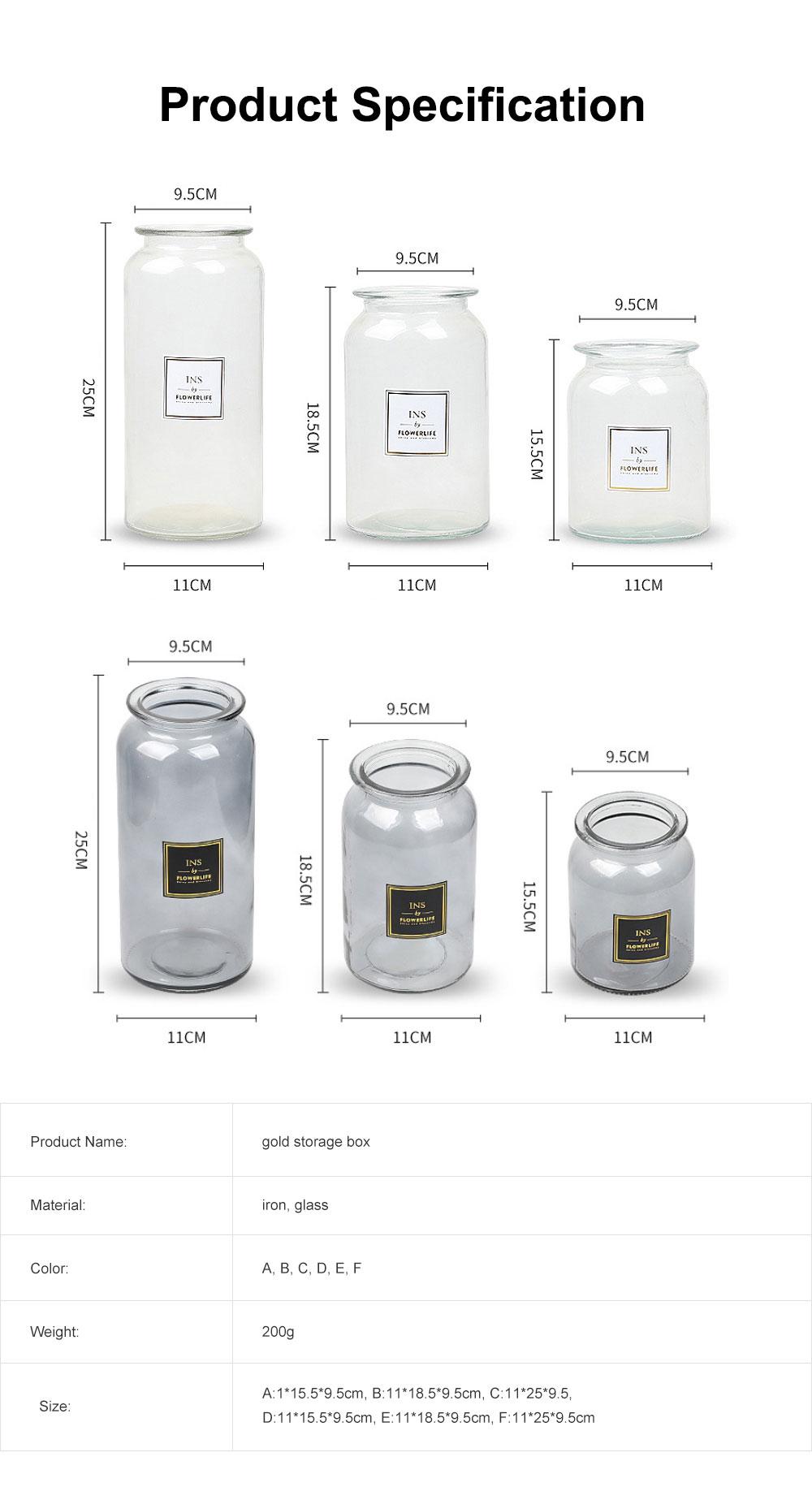 Transparent Glass Cylindrical Vase With Non-Slip Bottom 6
