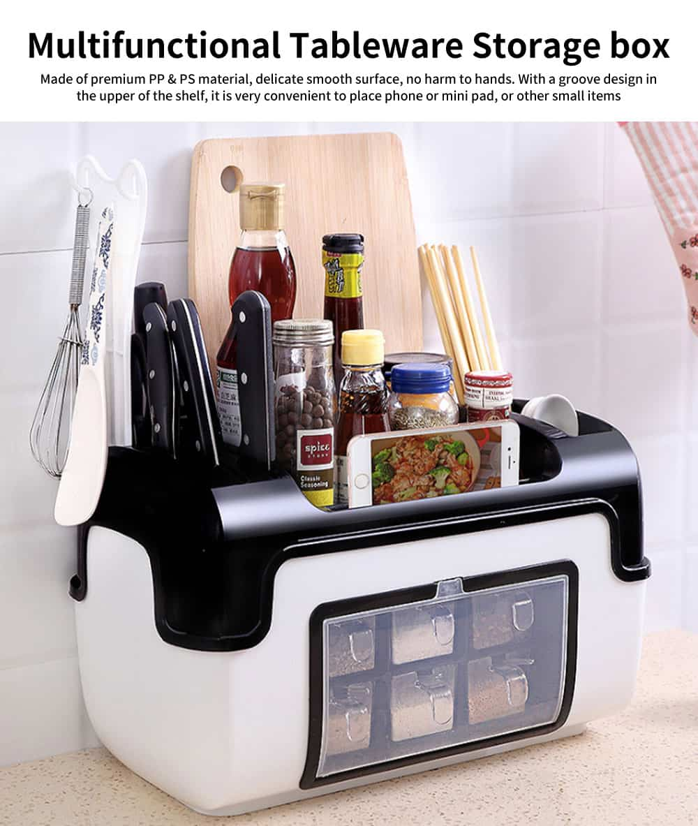 Multifunctional Tableware Storage Box, Innovative Dishware Storage Shelf 0