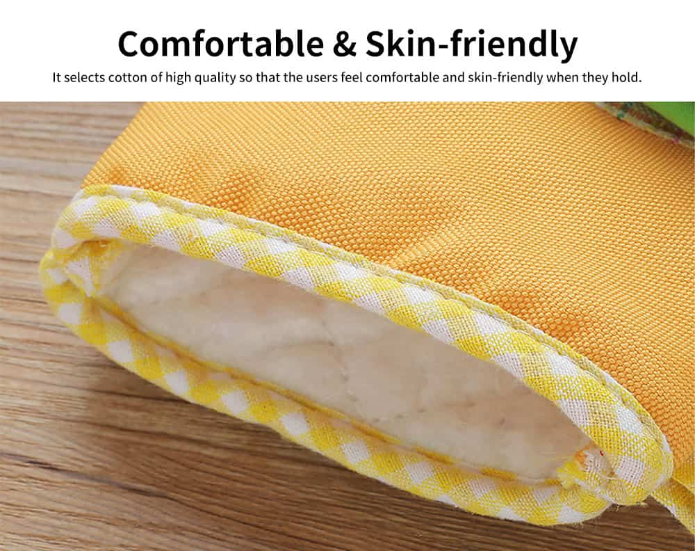 Cotton Microwave Oven Gloves, Heat Insulating Gloves with Gorgeous Plaid 3
