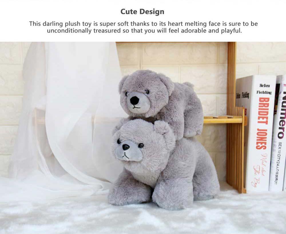 Polar Bear Stuffed Toy, Cute White Bear Doll Grab Doll Plush Toys for Children 3