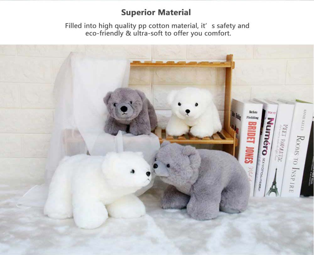 Polar Bear Stuffed Toy, Cute White Bear Doll Grab Doll Plush Toys for Children 1