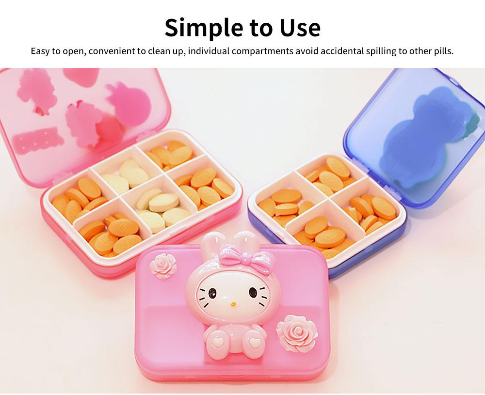 Cute Cartoon Pill Cases Series Small Pill Box Travel Vitamin Organizer 3