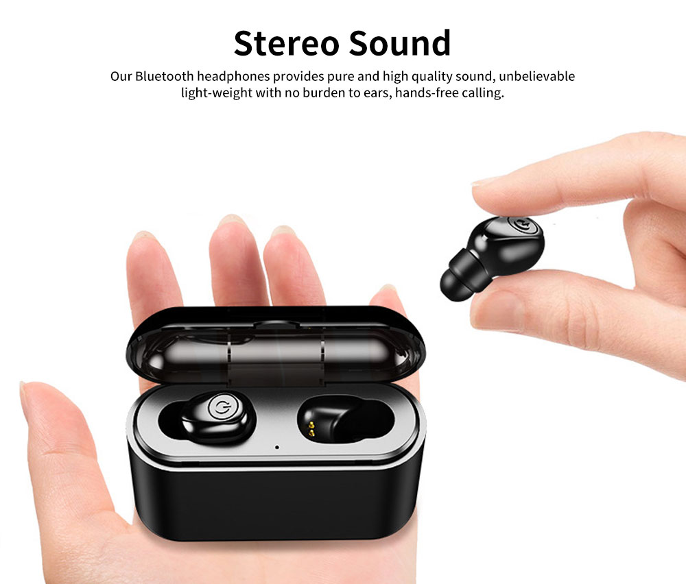 Wireless Bluetooth Earbuds Free Noise Stereo Headphone Compatible with All Phone Devices 3