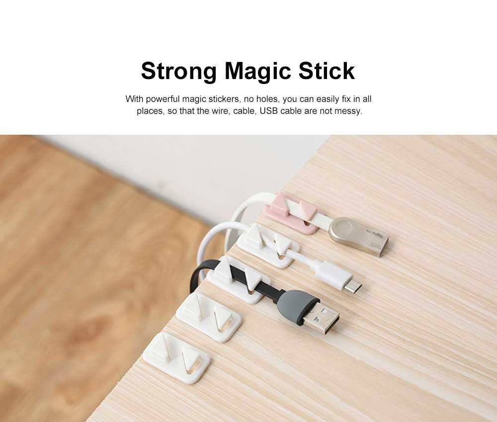 Punch Free Paste Line Divider, 24 Wire Holder Organizer Clips 2