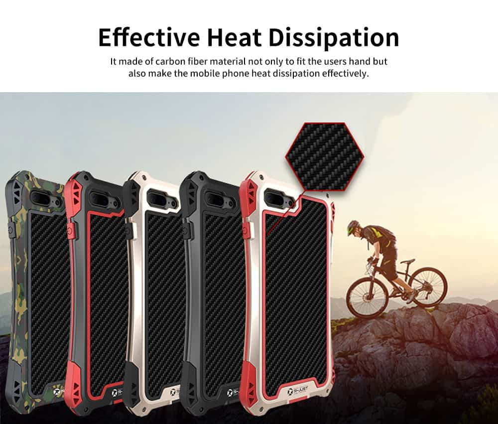 Zinc Alloy Phone Case Cover with Cushioning Soft Layer, Carbon Fiber and Tempered Glass for Different iPhone Type 4