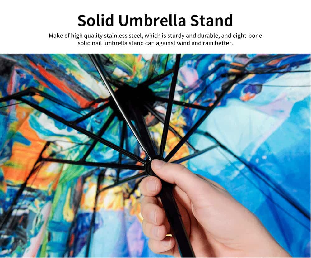 Eiffel Tower Umbrella, Triple Folded Umbrella With Sturdy Stainless Steel Rib and High Density Impact Cloth 3
