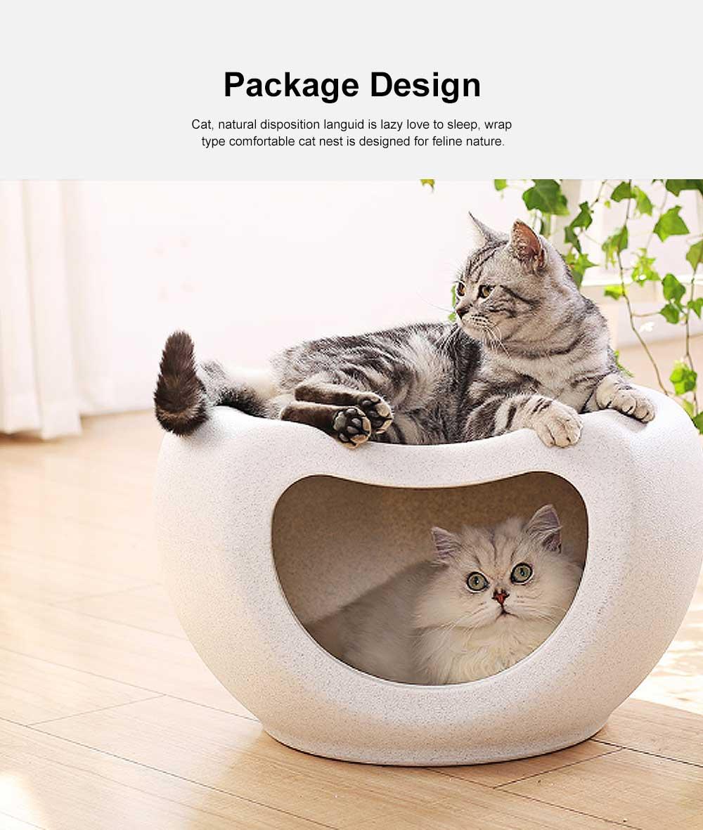 Semi Closed Cat Litter, Durable & Convenient Cat Cave Pet Bed 1