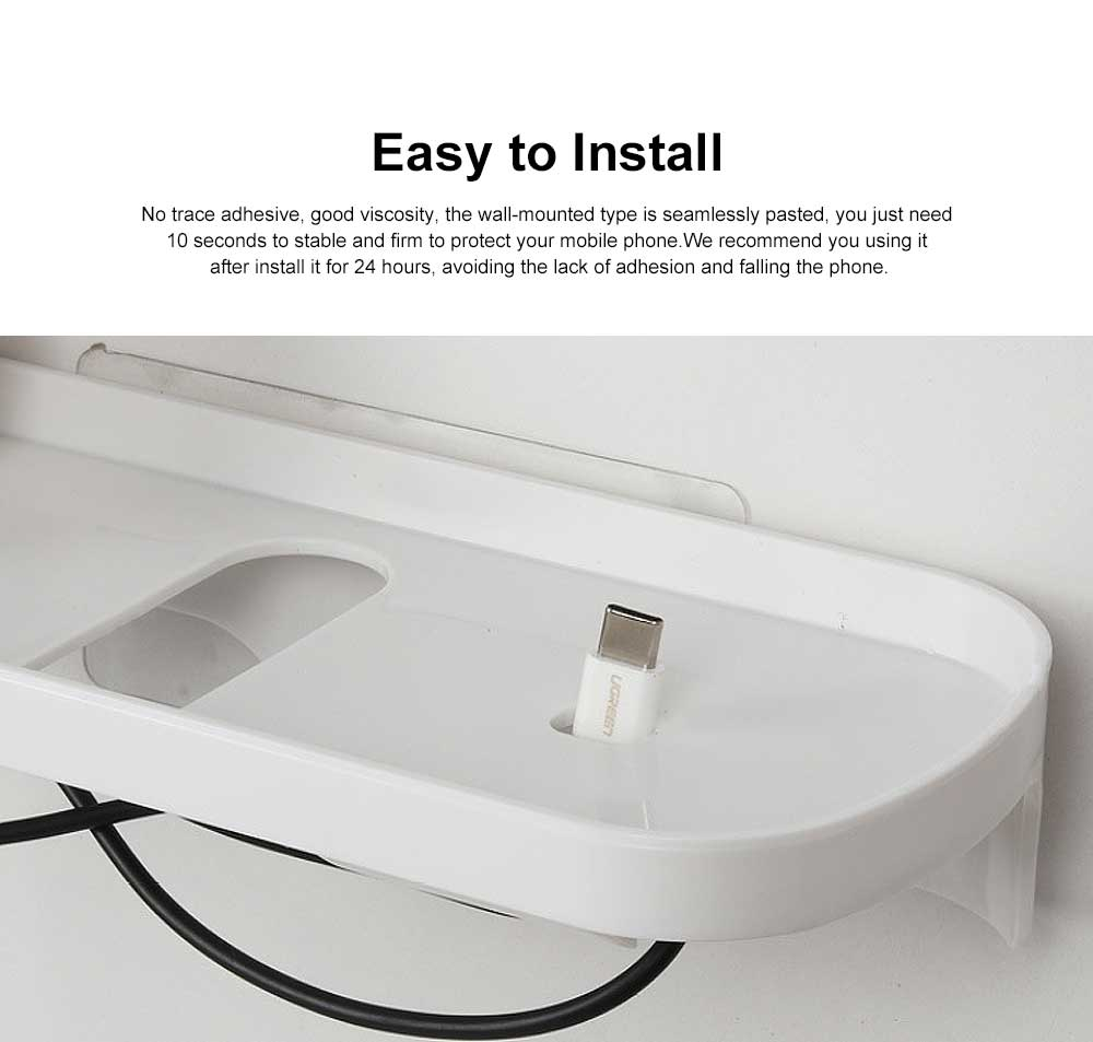 Wall Outlet Charging Shelf, Power Perch Charging Station for iPad Tablet, Convenient No Punch Cell Phone Rack 2