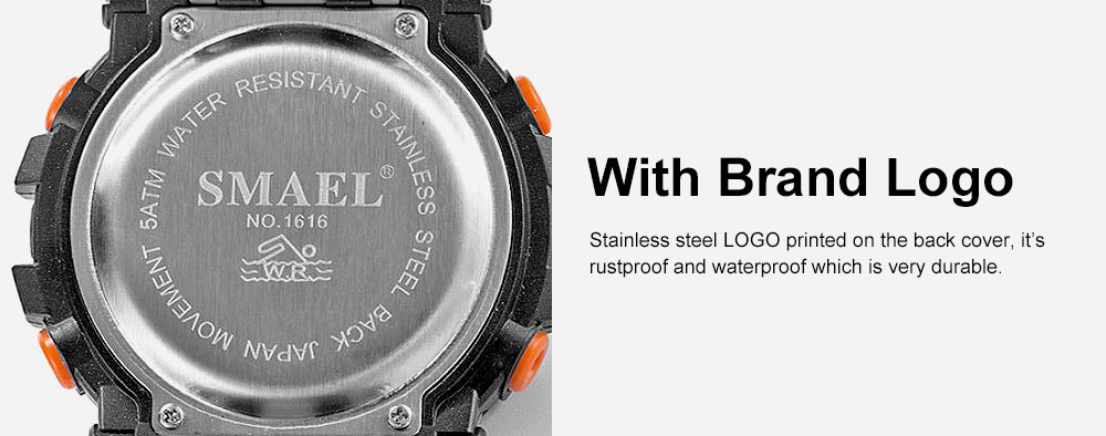 Multifunction Smart Electronic Watch, Luminous Mode, Water-proof, with Resin Strap 3