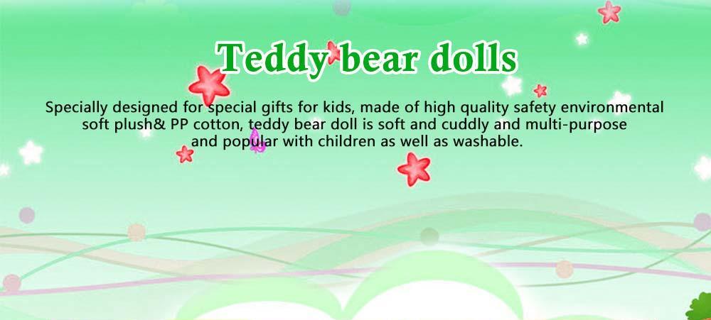 Teddy Bear Plush Toy, Girls Children Birthday Gift, Company Wedding Gift Doll 0